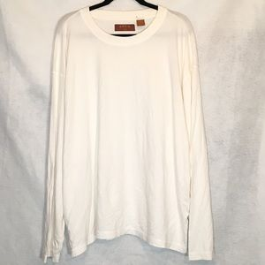 Orvis XXL Shirt White Solid Long Sleeve Cotton